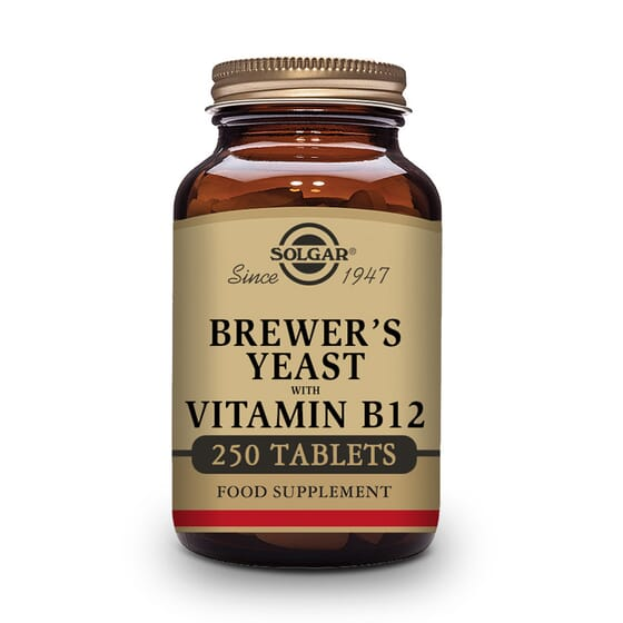 Levadura De Cerveza Con Vitamina B12 250 Tabs de Solgar