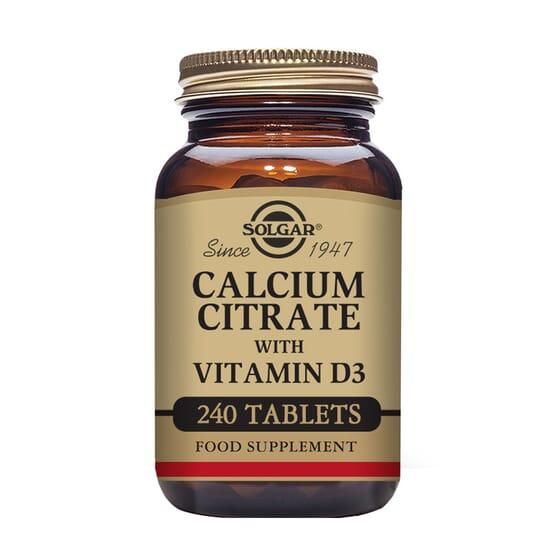 Calcium Citrate With Vitamin D3 240 Tabs de Solgar