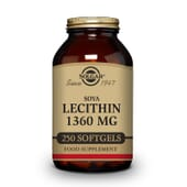 Lecitina De Soja 1360mg 250 Softgels da Solgar