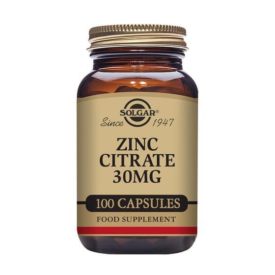 Zinc Citrate 30 mg 100 VCaps da Solgar