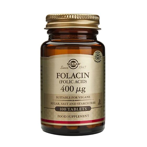 Folacin (Ácido Fólico) 400 mcg 100 Tabs de Solgar