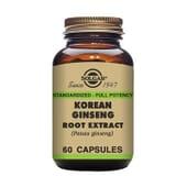 Extrato De Ginseng Coreano 60 VCaps da Solgar