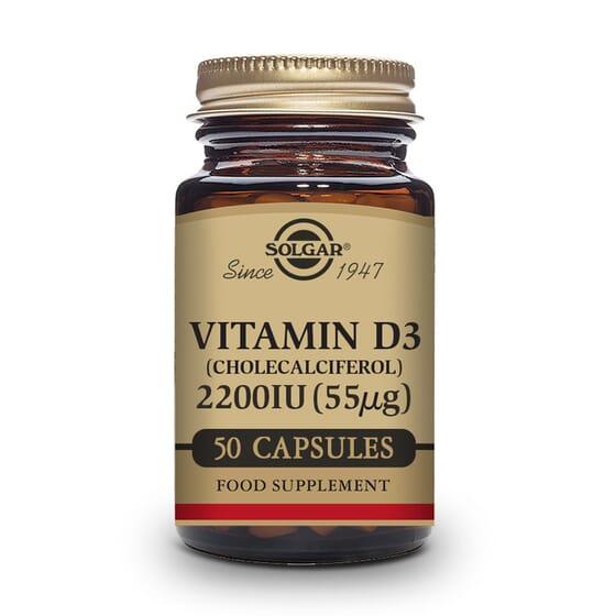 Vitamina D3 2200UI 50 VCaps de Solgar