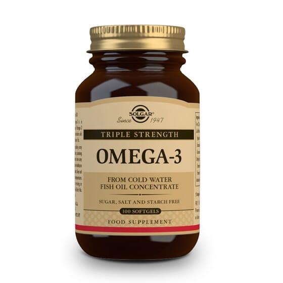 Omega 3 Triple Concentración 100 Softgels de Solgar