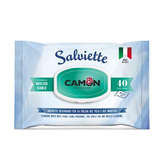 Toalhitas Musgo Branco 40 Unds da Camon