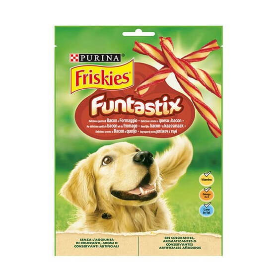 Funtastix Snacks Queso y Bacon 175g de Friskies