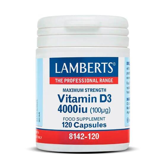 VITAMIN D3 4000 UI 120 Gélules - LAMBERTS