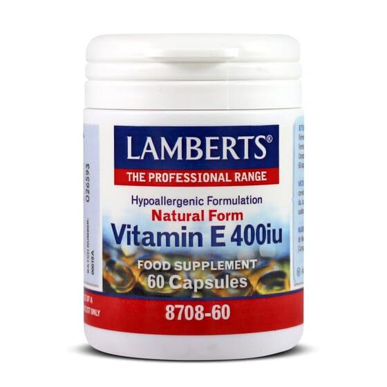 Vitamin E 400IU 60 Caps de Lamberts