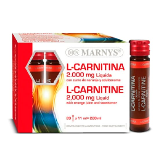 L-Carnitina 2000mg 20 x 11ml de Marnys