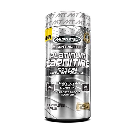 PLATINUM 100 % CARNITINE 180 Gélules - MUSCLETECH