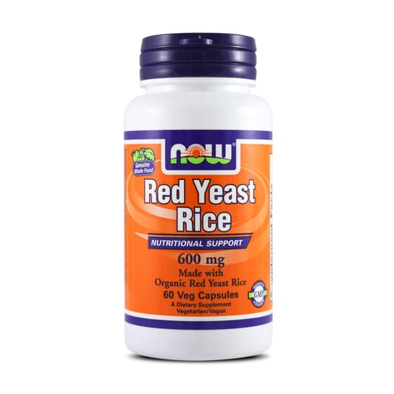 Organic Red Yeast Rice 600Mg 60 Vcaps da Now Foods