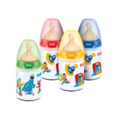 Biberon First Choice Barrio Sesamo Latex 0-6 M 150 ml di Nuk
