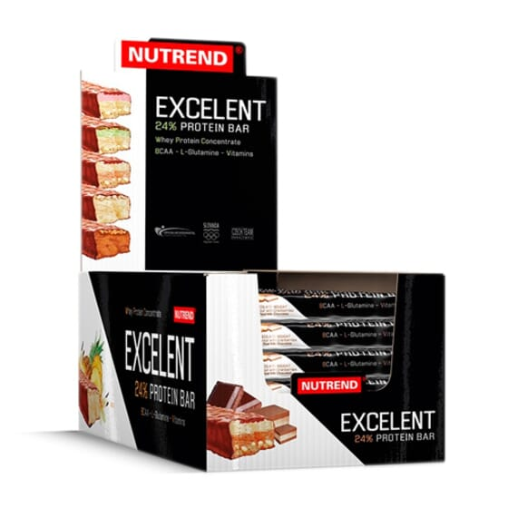 EXCELENT PROTEIN BAR DOUBLE 30 x 40 - NUTREND