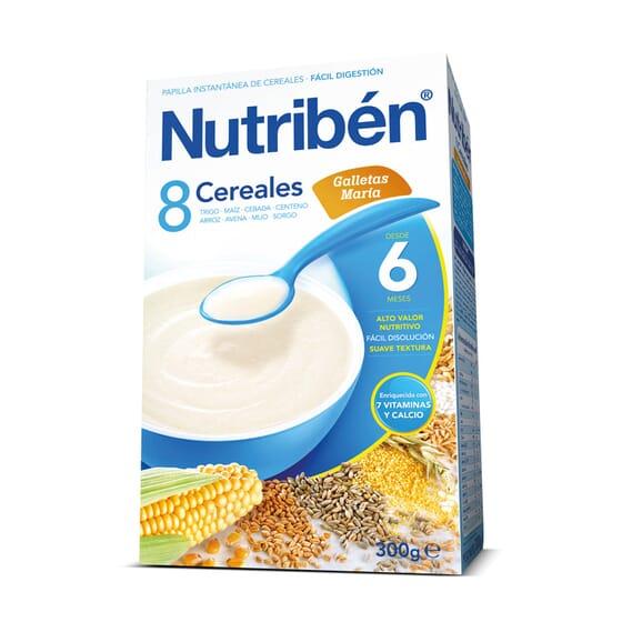 8 Cereais Bolacha Maria 600g da Nutribén