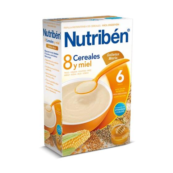 8 Cereais Mel Bolacha Maria 600g da Nutribén