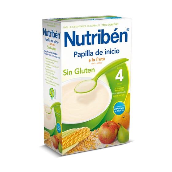 PAPILLA DE INICIO A LA FRUTA SIN GLUTEN 300g - NUTRIBEN
