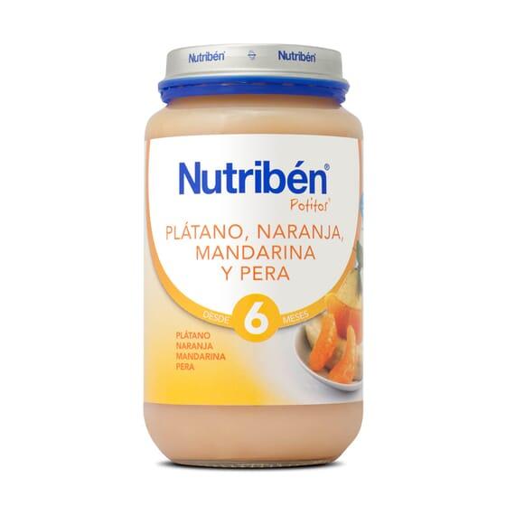 POTITOS PLATANO NARANJA MANDARINA Y PERA 250g - NUTRIBEN
