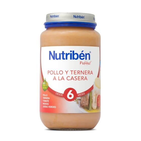 POTITOS POLLO Y TERNERA A LA CASERA 250g - NUTRIBEN