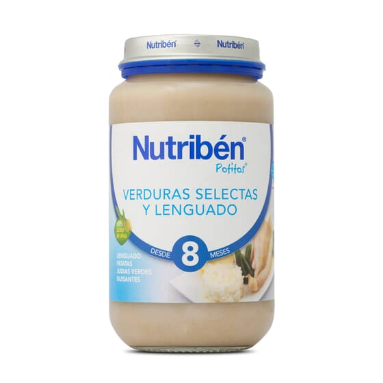POTITOS VERDURAS SELECTAS Y LENGUADO 250g - NUTRIBEN