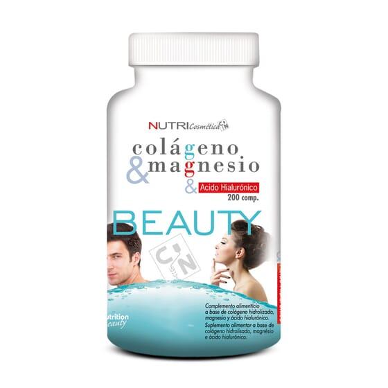 Beauty Colageno & Magnesio & Acido Hialuronico 200 Tabs da NutriSport