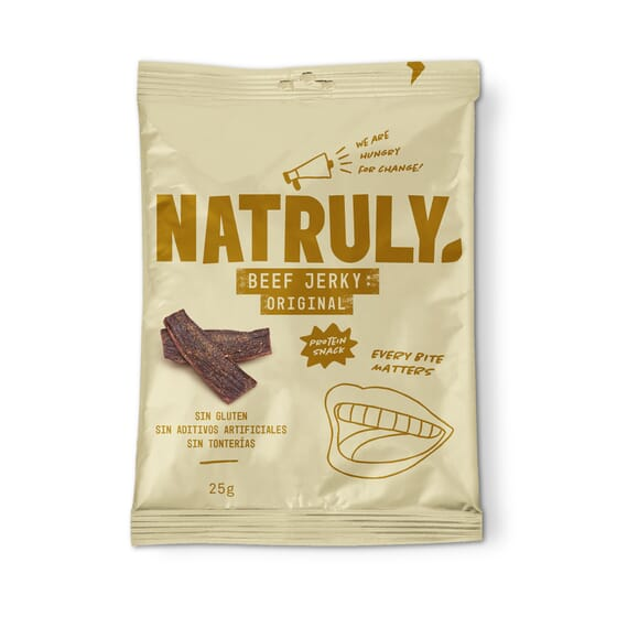 NATURAL BEEF JERKY ORIGINAL 25g de Natural Athlete