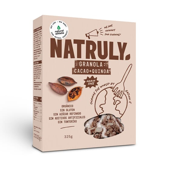 Natural Granola Di Cacao, Cocco E Quinoa 325g di Natural Athlete