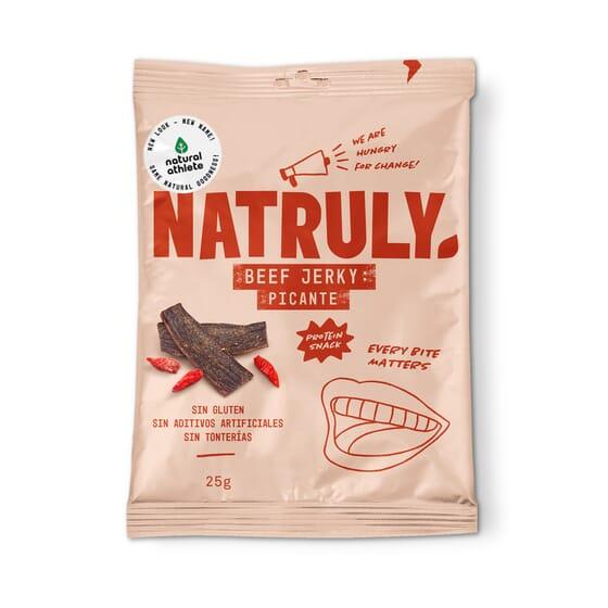 Natural Beef Jerky Piccante 15 Unità Da 25g di Natural Athlete