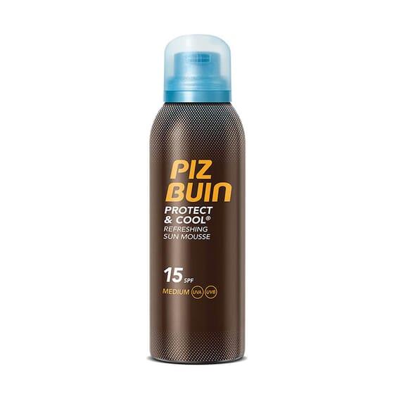 PIZ BUIN PROTECT & COOL MOUSSE SOLAIRE RAFRAÎCHISSANTE SPF 15 150 ml - PIZ BUIN