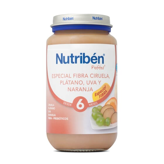 POTITO ESPECIAL FIBRA CIRUELA PLATANO UVA Y NARANJA 250g - NUTRIBEN