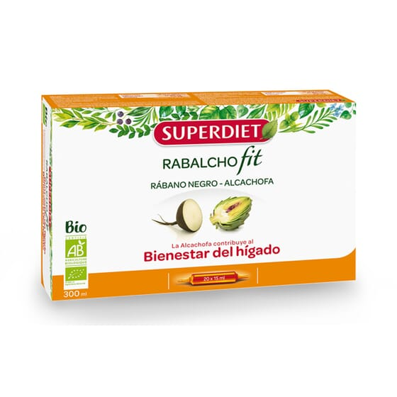 Rabalchofit Bio 20 Ampolas de  15 ml 20 Frascos da Super Diet