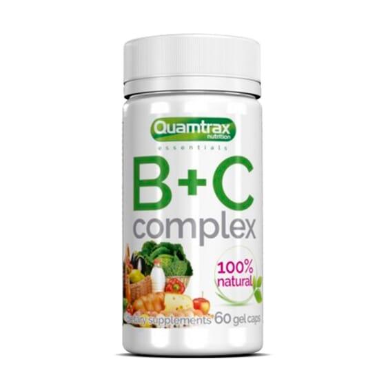 B+C Complex 60 Caps da Quamtrax Essentials