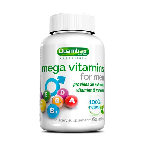 Mega Vitamins For Men 60 Tabs da Quamtrax Essentials