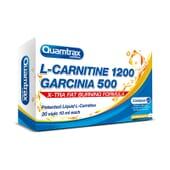 L-CARNITINE 1200 GARCINIA 500 - 20 x 10 ml - QUAMTRAX