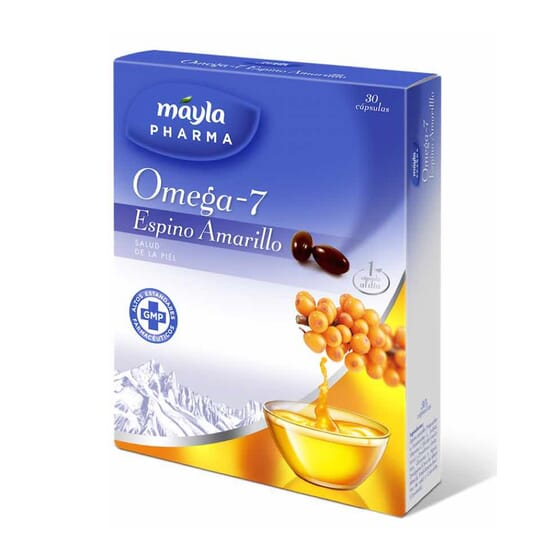 Ómega 7 Espinheiro Amarelo 30 Pérolas da Mayla Pharma
