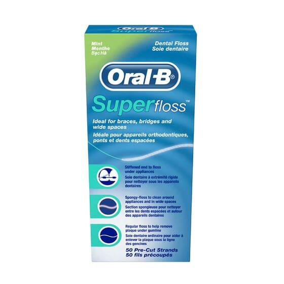 Oral-B Super Floss Fio Dental Menta 50 Unds da Oral-B