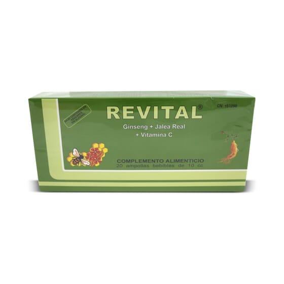 Revital Ginseng + Jalea Real + Vitamina C 20 x 10ml de Revital
