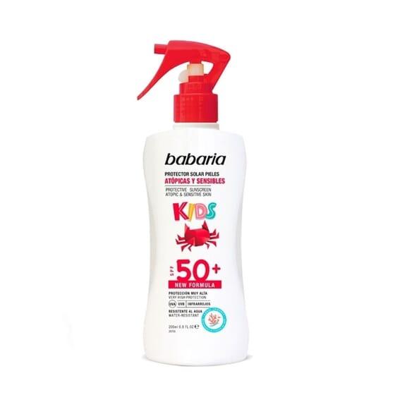 Spray Protetor Solar Peles Atópicas e Sensíveis Kids SPF50 200 ml da Babaria