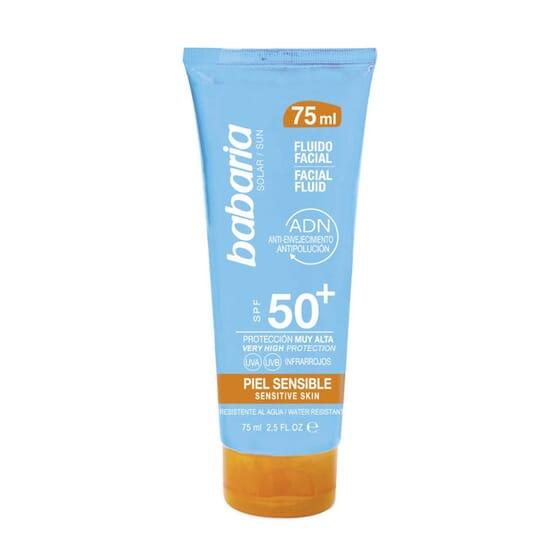 Solar Fluido Facial Pele Sensível SPF50+ 75 ml da Babaria
