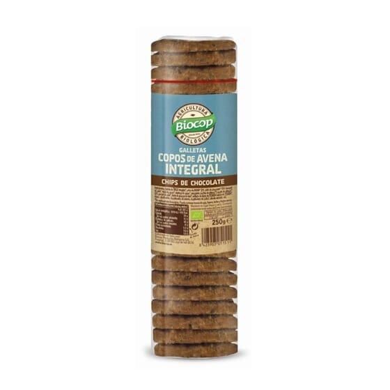 Bolachas De Flocos Aveia Integral Chips De Chocolate 250g da Biocop