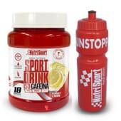 Sport Drink Iso Cafeína 990g + Garrafa 990g de NutriSport