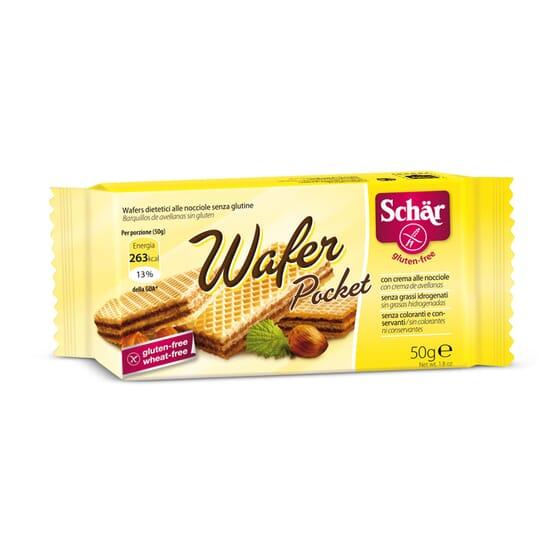 Wafer Pocket Bolachas Sem Glúten 50g da Schar