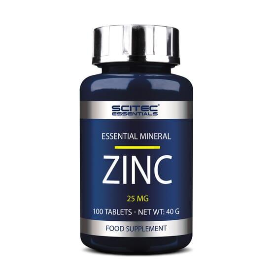 Zinc 25Mg 100 Tabs da Scitec Essentials