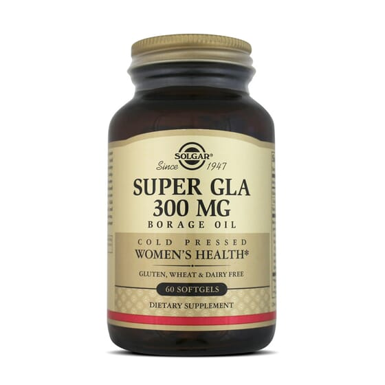 Super Gla 300Mg Borage Oil 60 Softgels da Solgar