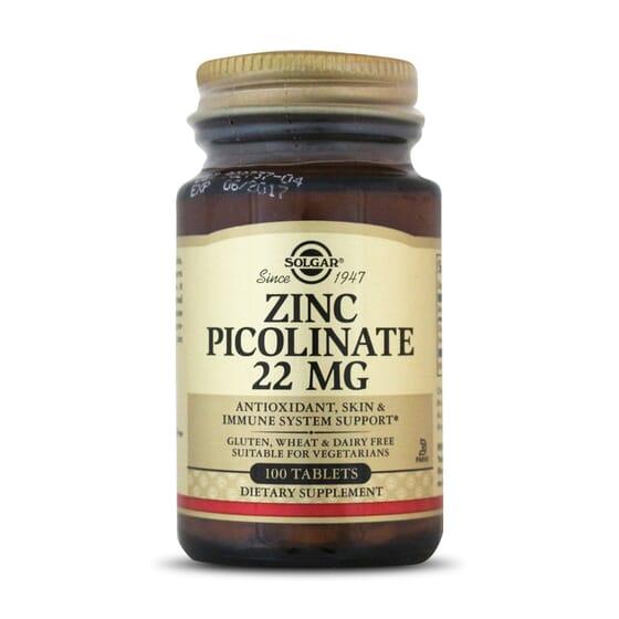Zinc Picolinate 22mg 100 Tabs de Solgar