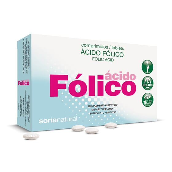 Acido Folico 48 Tabs de Soria Natural