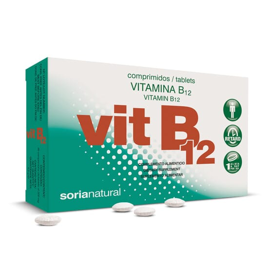 Vitamina B12 - 48 Tabs da Soria Natural