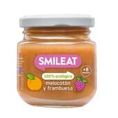 PETIT POT BIOLOGIQUE PÊCHE ET FRAMBOISE +8M 130 g de Smileat.