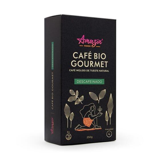 Café Bio Gourmet Décaféiné Moulu 250 g de Amazin' Foods