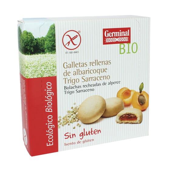 Galletas Rellenas Albaricoque Trigo Sarraceno Sin Gluten Bio 200g de Germinal Eco Bio