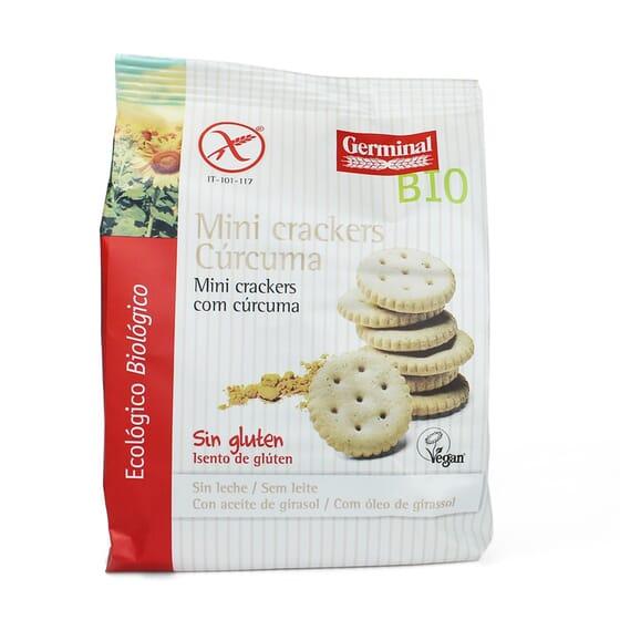 Mini Crackers Cúrcuma Sin Gluten 100g de Germinal Eco Bio